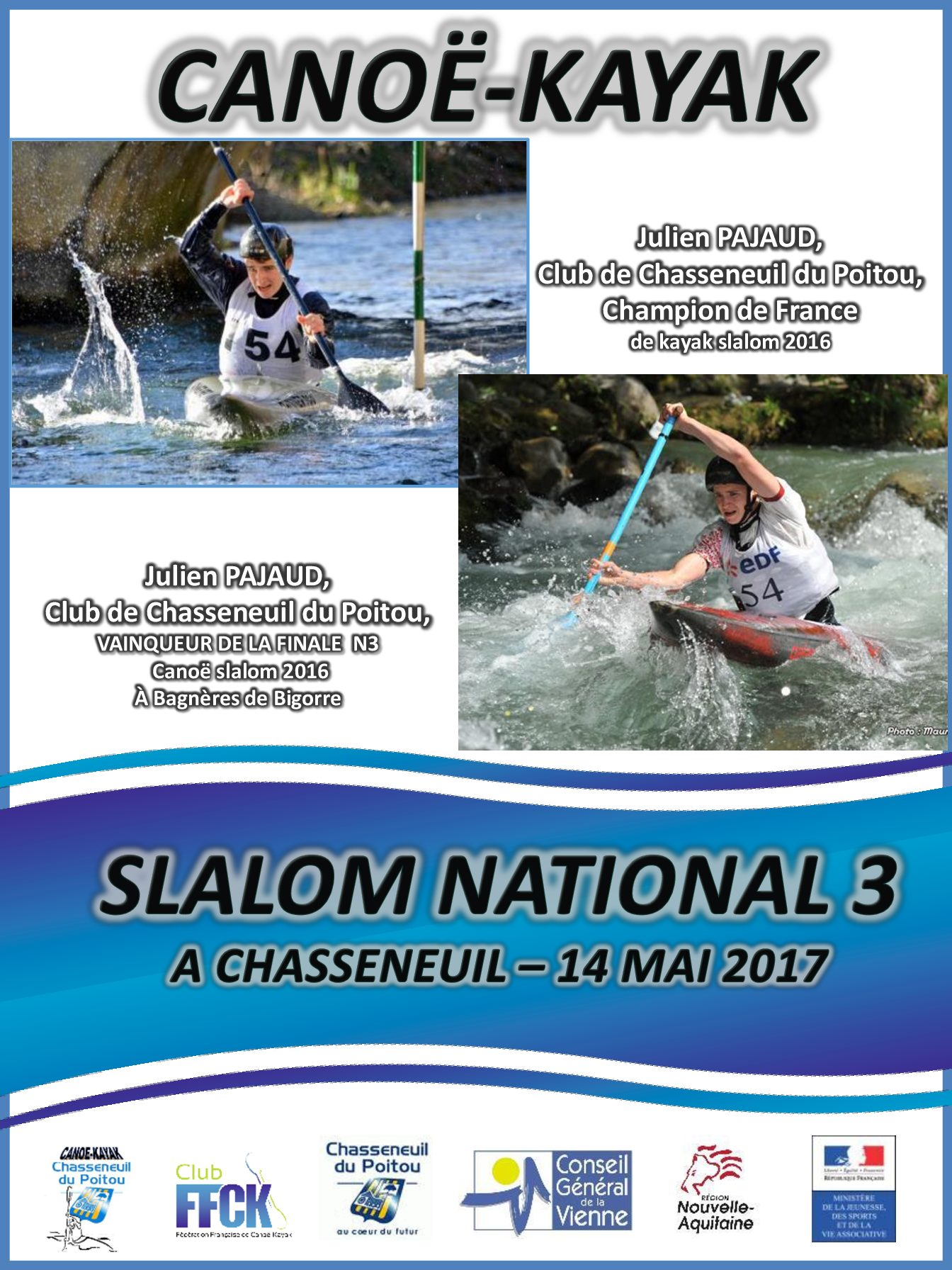 Slalom National 3 Chasseneuil 2017