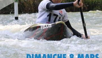 Sélectif National 3 Canoë Kayak de Slalom Lathus 8 Mars 2020