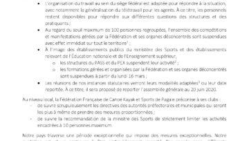 ANNULATION du Challenge 86 de Descente à Chauvigny